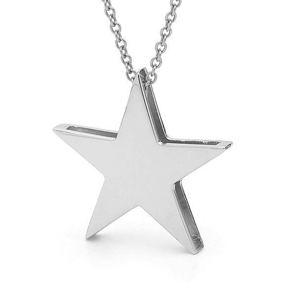 Sterling silver star pendant on a silver cable chain star sterling silver star pendant on a silver cable chain star necklace aloadofball Choice Image