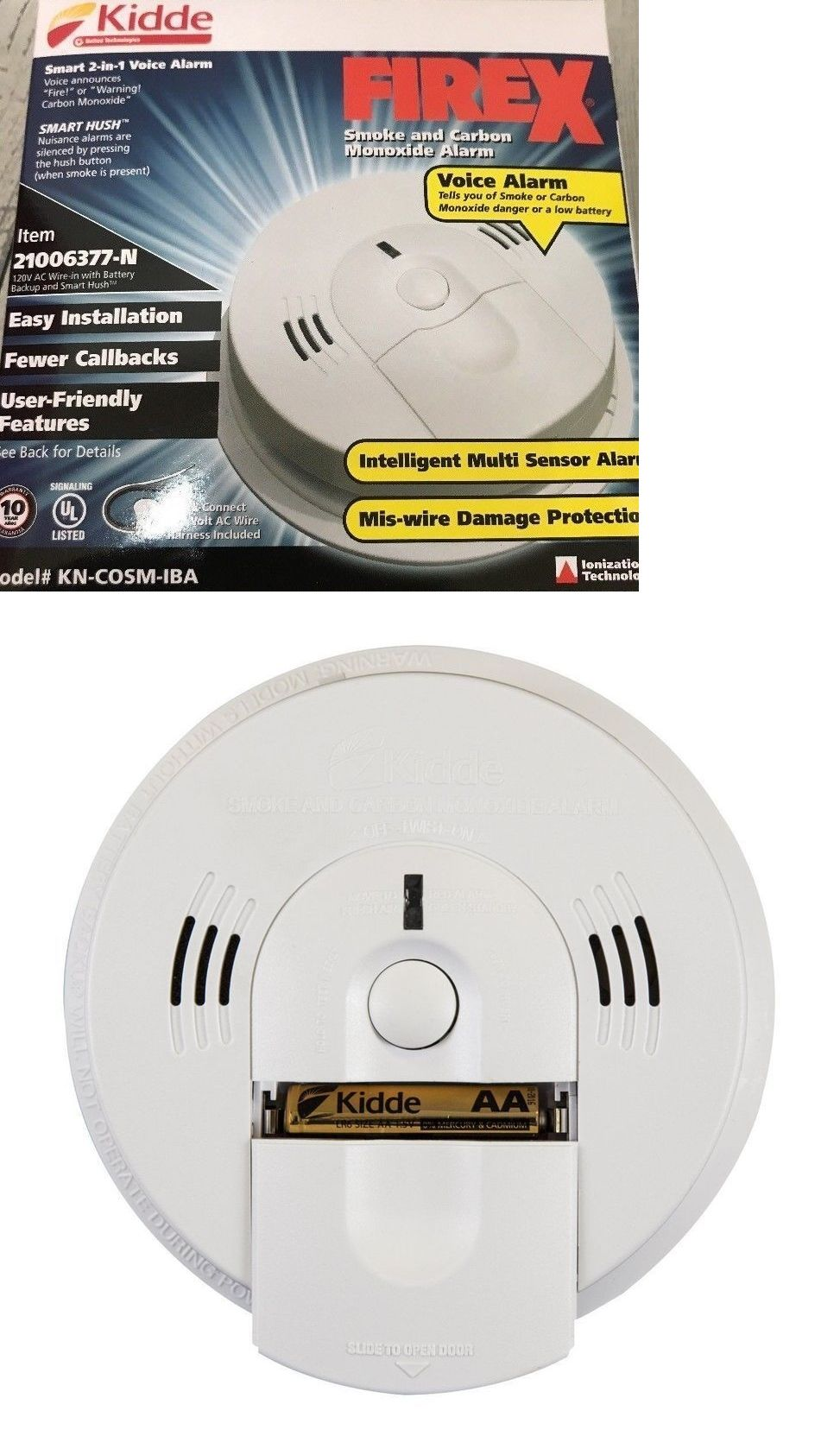 Kidde Kn Cosm Iba Combination Carbon Monoxide Smoke Alarm Brand
