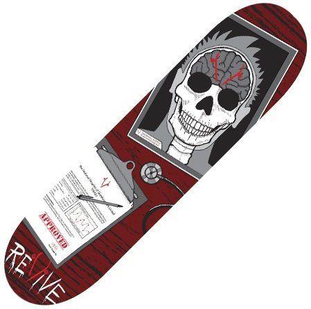 Revive Skull Stack Skateboard Deck Outdoor Recreation Sports ...