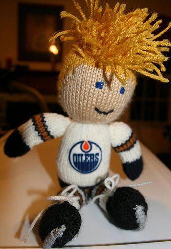 Free Knitting Pattern Toys Dolls Stuff Animals Hockey Player