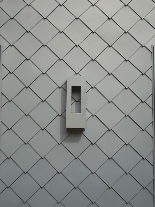 Zinc Metal Wall Cladding Rheinzink Flat Lock Tiles In