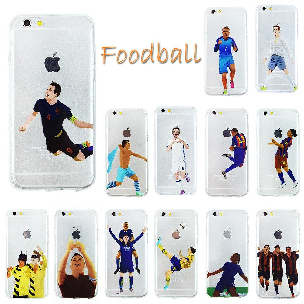 the latest ded38 57d6d Soccer Stars Clear Football Phone Cases for iPhone 6 6s 5 5s #iphone ...
