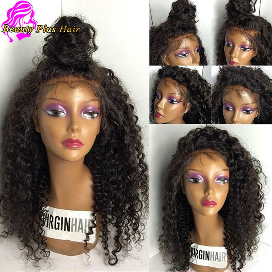 Strange 7A Best Brazilian Kinky Curly Wigs Human Hair Lace Front Wig With Short Hairstyles For Black Women Fulllsitofus