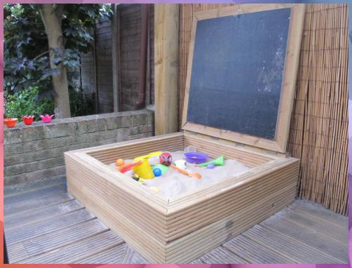 Sandkasten Mit Tafel Sandkasten Mit Tafel In 2020 Kinderspiel Im Freine Sandkasten Garten Sandkasten