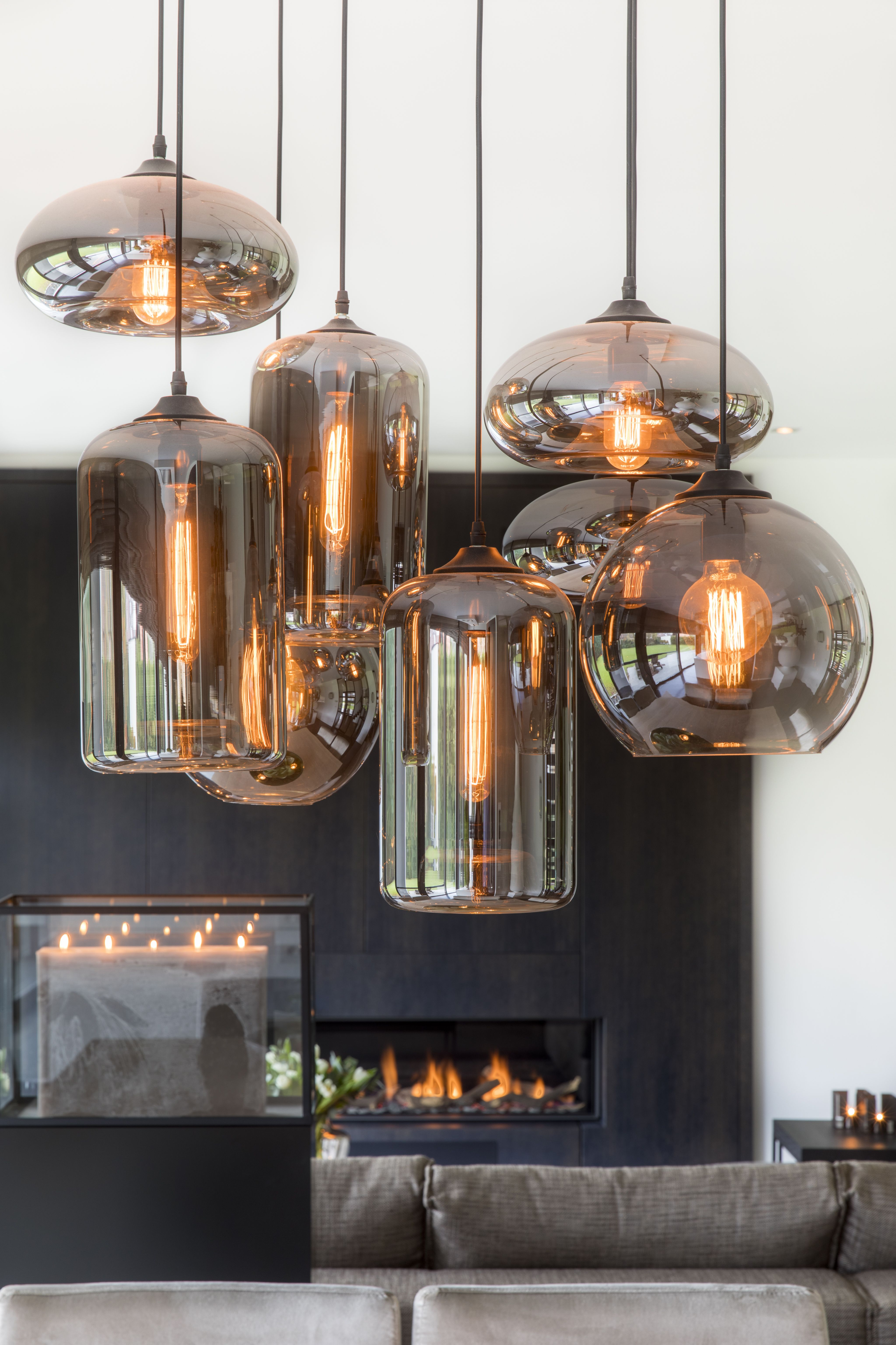 EVEBulbs in Metallic Smoke. Project EVELiving/Zoersel
