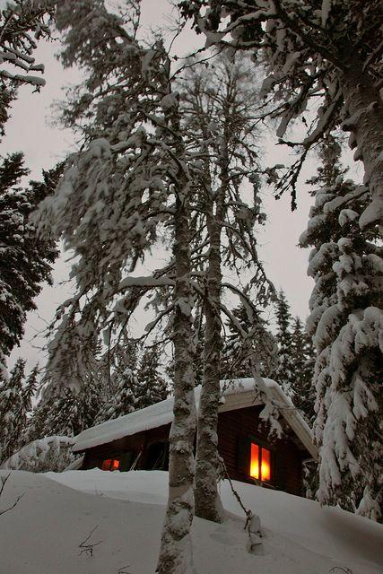 Snow Cabin, Finland photo via janice