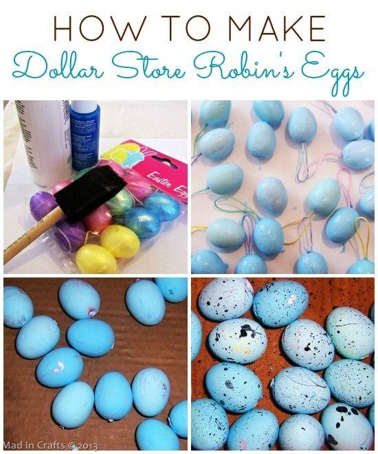 Make Dollar Store Robin's Eggs For Spring