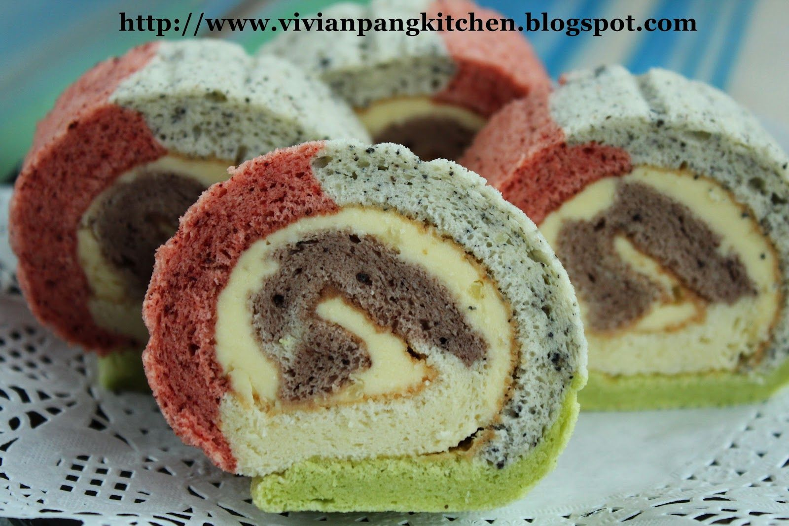 Rainbow Swiss Roll with Natural Colouring