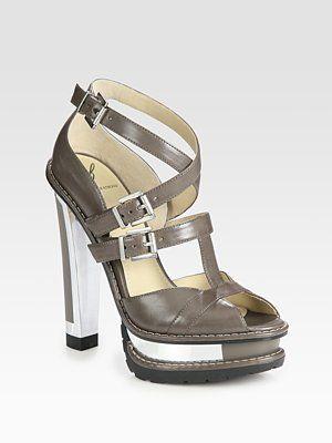 8afe19d2c25 B Brian Atwood Teatro Leather Platform Sandals