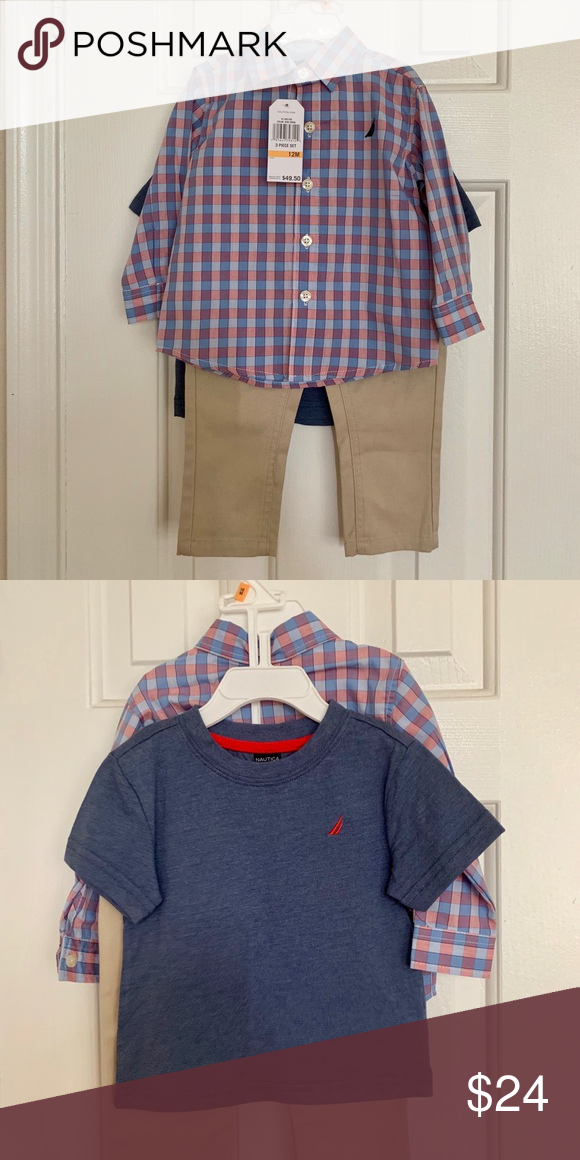 5c1ab6ea NAUTICA Little Boys 3 piece set NWT Adorable! Great for the holidays!  Nautica Matching Sets