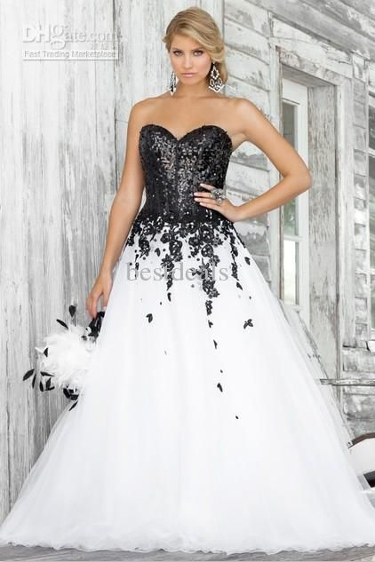 Wholesale 2013 Hot A Line Wedding Dresses Sweetheart Organza Black Applique  Tulle Wedding Gown BL 5139 1f6a35f5d657