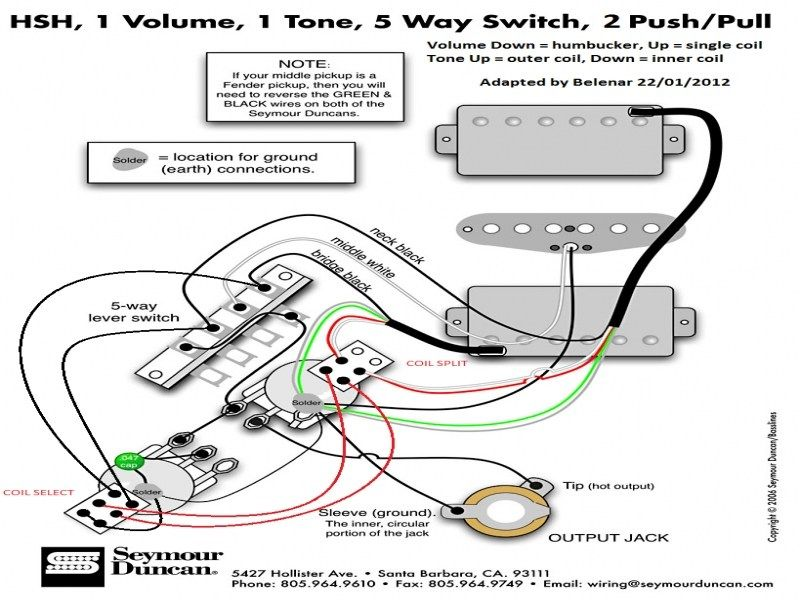 Seymour Duncan Wiring Diagram Gallery For Stratocaster Hsh And Guitarra Eletrica Pedal De Efeitos Producao Musical