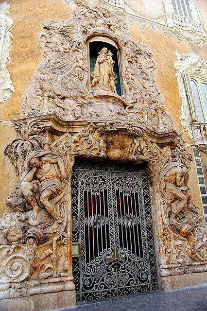 Ornate metal Door & sculptures