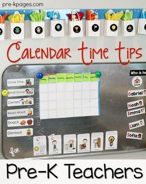 Calendar Time in Preschool. Tips for setting up a meaningful calendar time routine in your Pre-K Classroom on a budget.