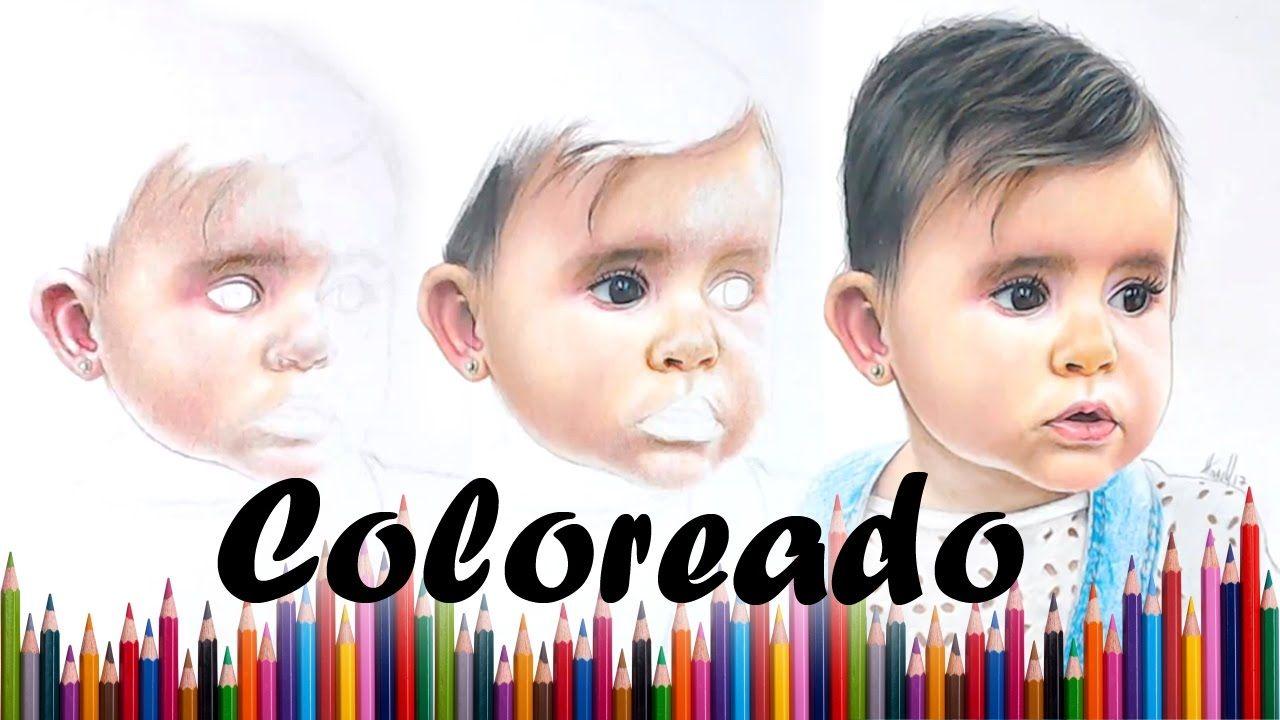 Como colorear un rostro realista con lapices de colores | Tutorial ...