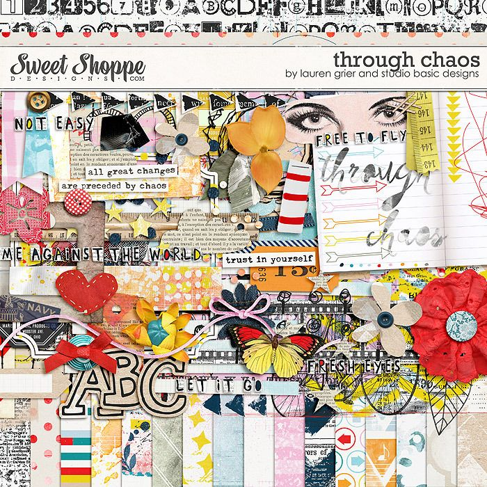 Through Chaos by Lauren Grier & Studio Basic - my life is chaotic.  This is awesome! #laurengrier