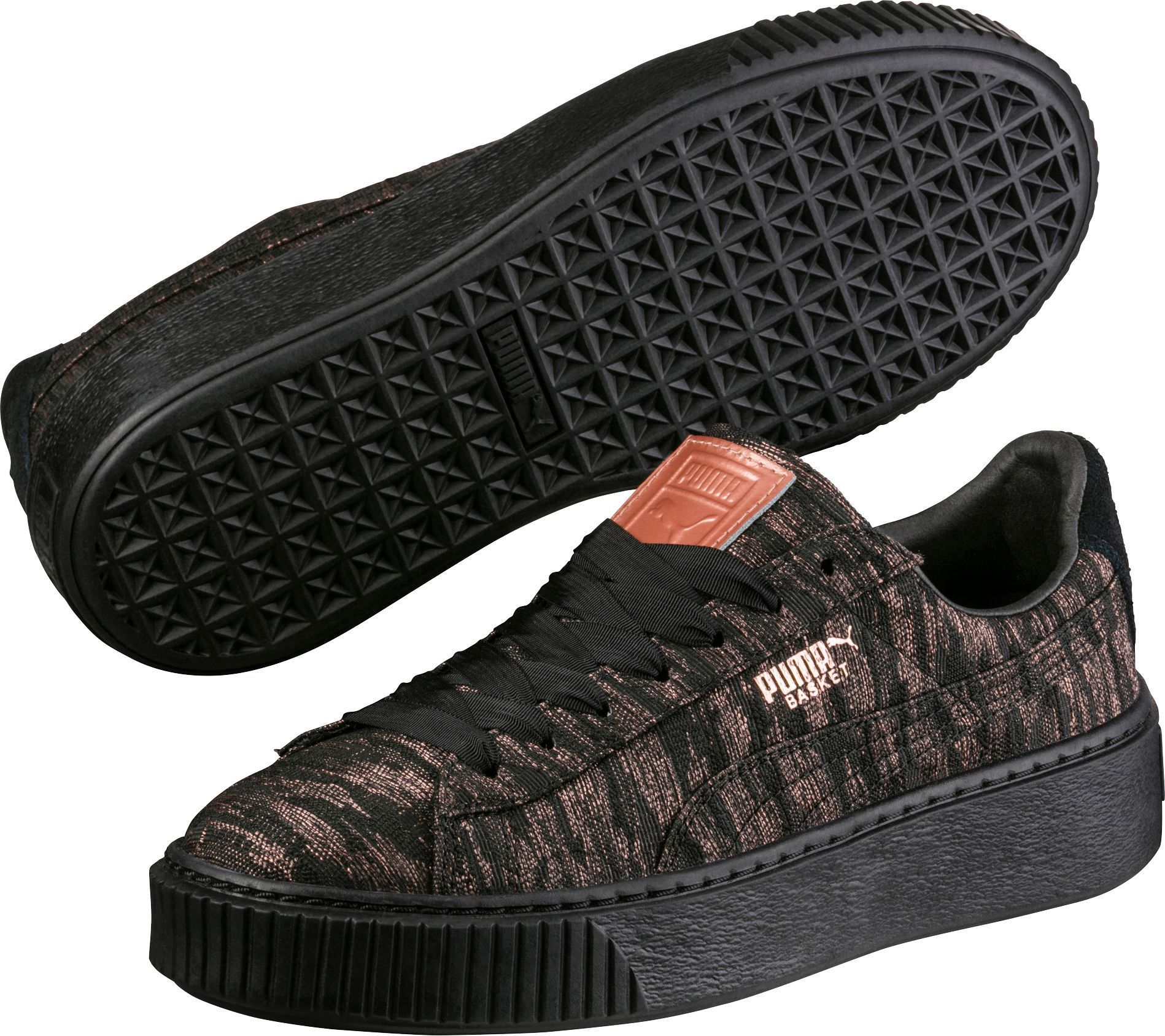 62f1e1d90adf Puma Women s Basket Platform Velvet Rope Shoes