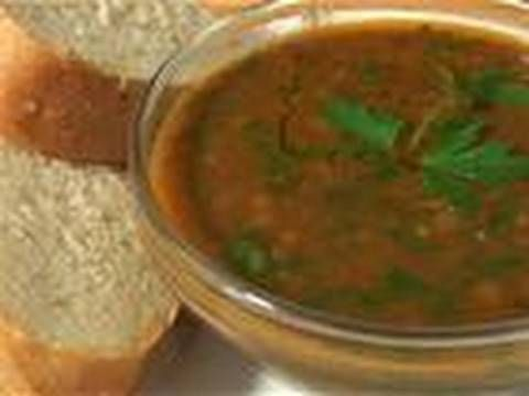 How to make spicy red lentil and spinach soup video - Allrecipes.co.uk - YouTube