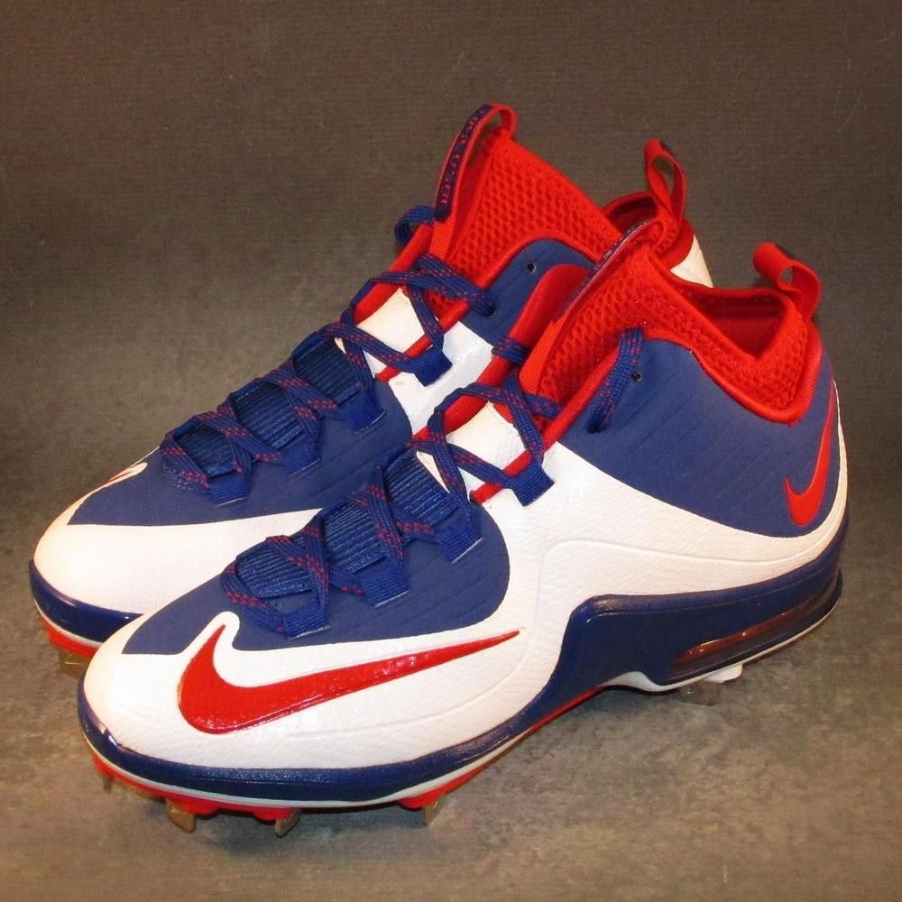 reputable site 507db 96c76 Nike Air Max MVP Elite 2 Baseball Cleats Size 8.5 Red White Blue  Nike