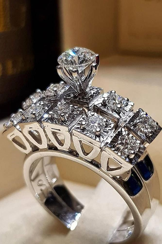Check these out unique wedding rings 6875