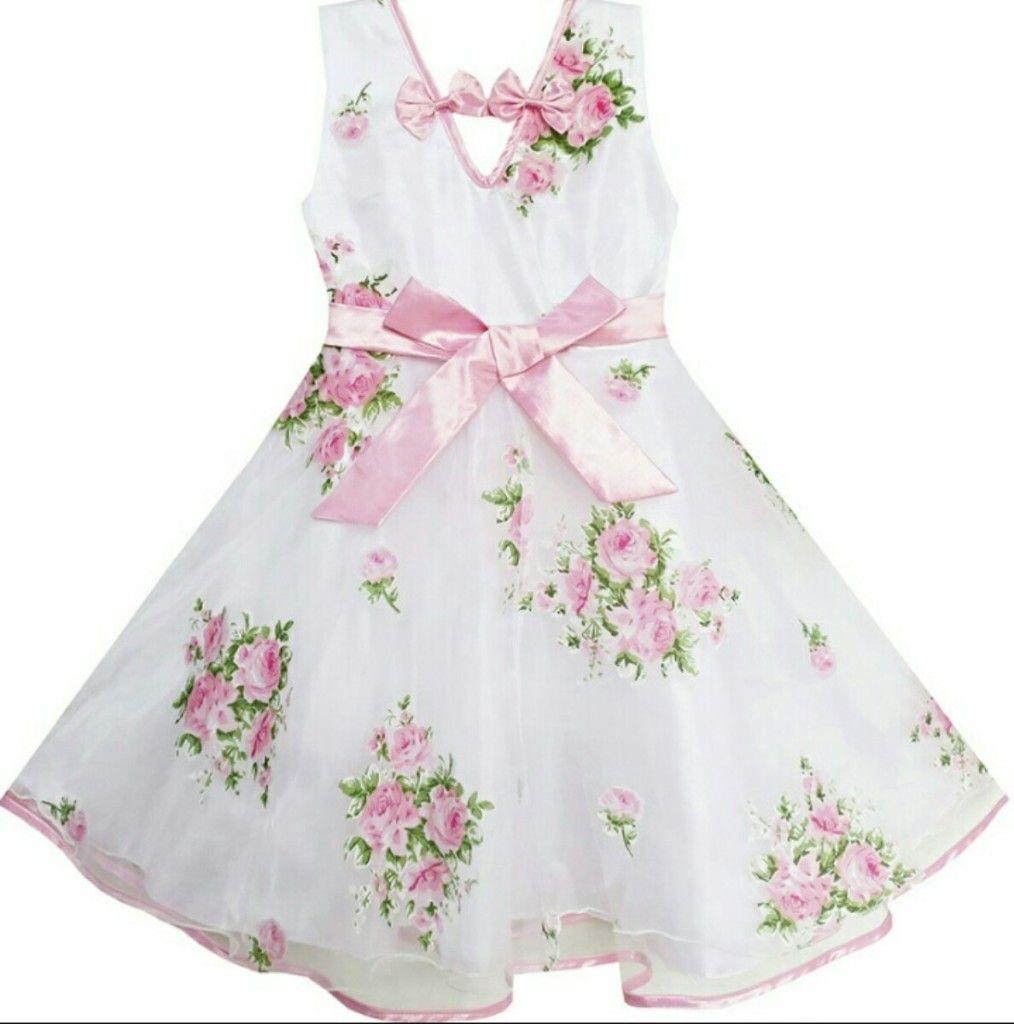e824863d39cc Vestidos floreados de niña 6 Molde De Vestido Infantil, Molde Vestido Niña, Ver  Vestido