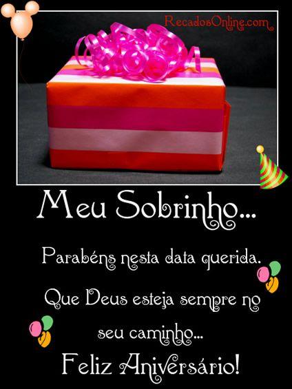 Feliz Aniversário Sobrinho Mensagem De Aniversário Happy