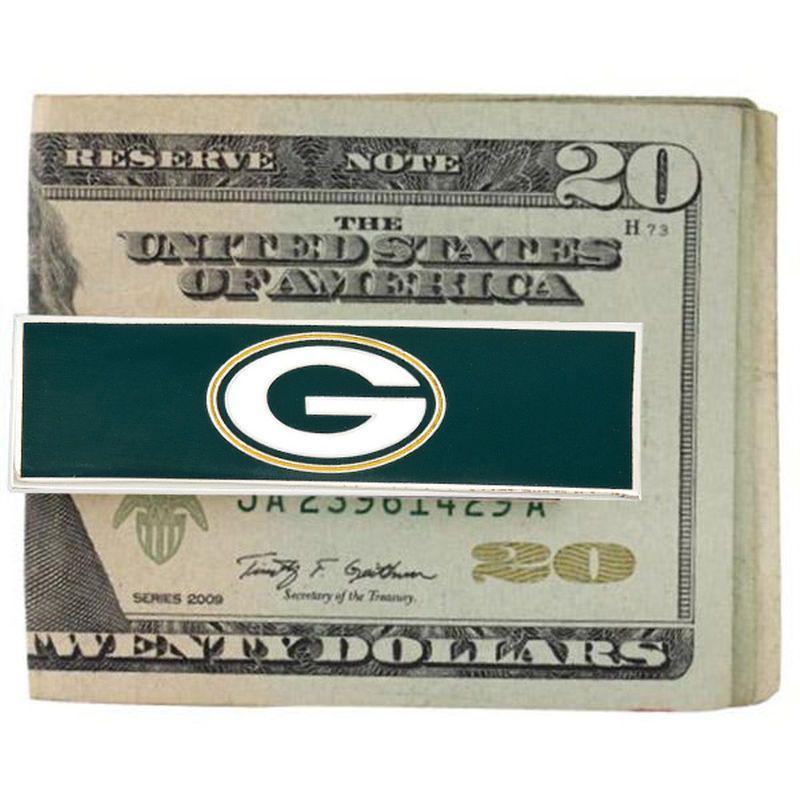 Green Bay Packers Enamel Money Clip