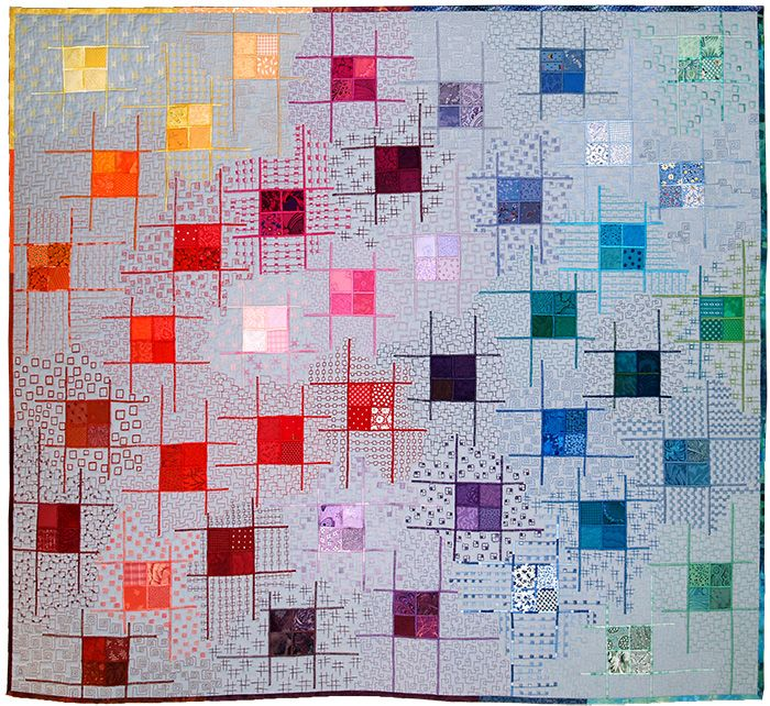 Gridlocked By Sheena Norquay Contemporary Quilt Art Uk Quilt
