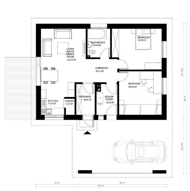 planos de casas pequenas de un piso gratis