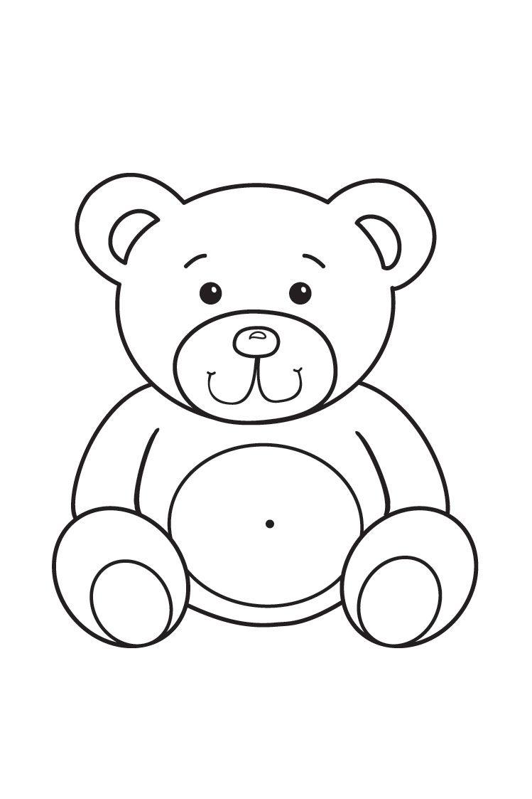 Раскраска для малышей Мишка | Раскраски, Картинки, Дети