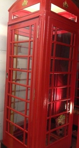 English British London Vintage Antique Red Telephone Phone Booth Box Ebay Phone Booth Vintage London Red Telephone Box