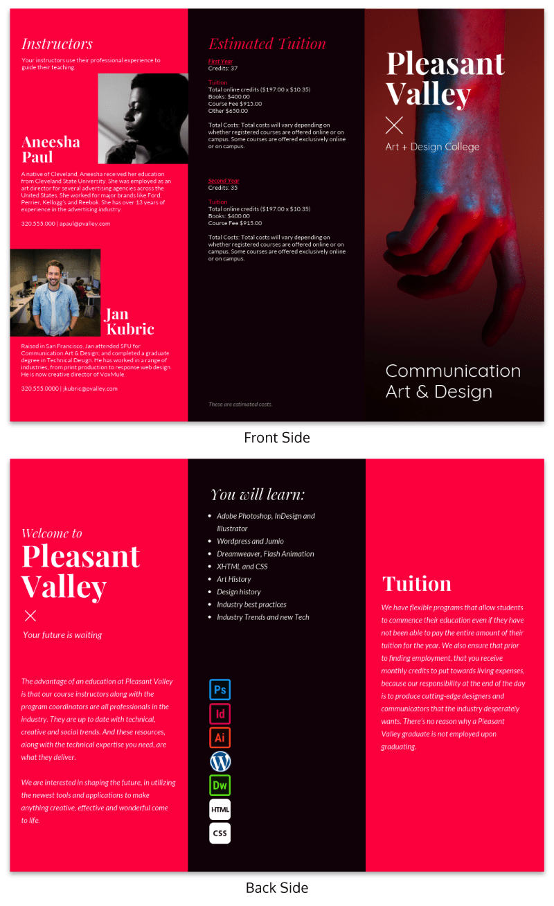 trifold brochure ideas brochure examples from venngage