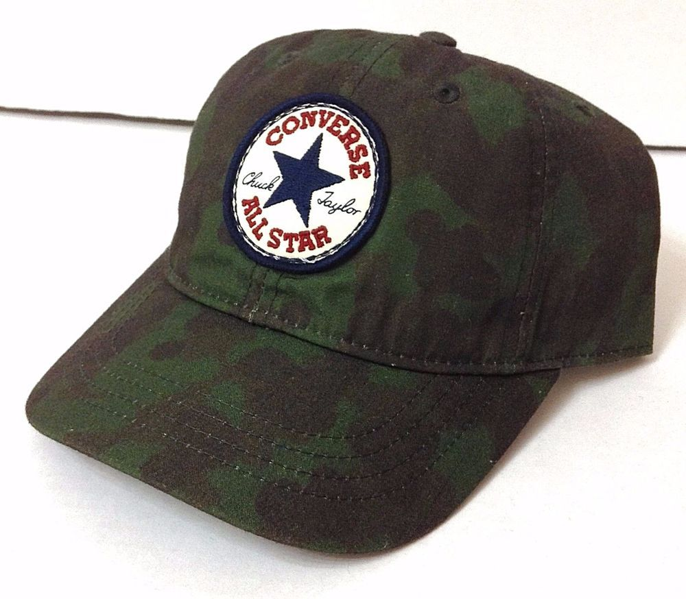 adec61d4874 New Boy Youth Size CONVERSE ALL STAR CHUCK TAYLOR HAT Camouflage Camo Dark- Green  Converse  BaseballCap