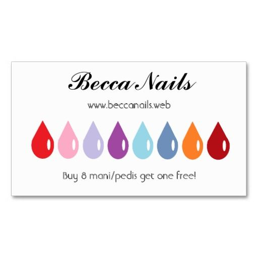 Frequent Visitor 8 Drops Loyalty Cards Zazzle Com Salon Business Cards Loyalty Card Nail Salon Business Cards