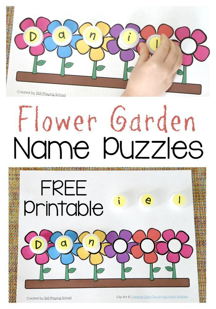 graphic relating to Name Puzzle Printable known as Flower Standing Puzzle Literacy: Popularity Online games - Preschool