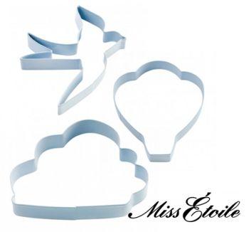 """Miss Étoile Ausstecher-Set """"Vogel & Wolken"""", Ausstechformen"""