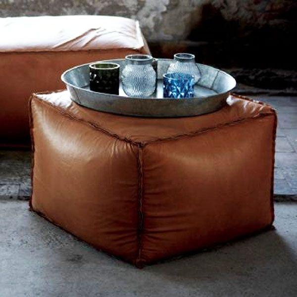 Pouf Leder pouf brick 60 60 leder house кожа