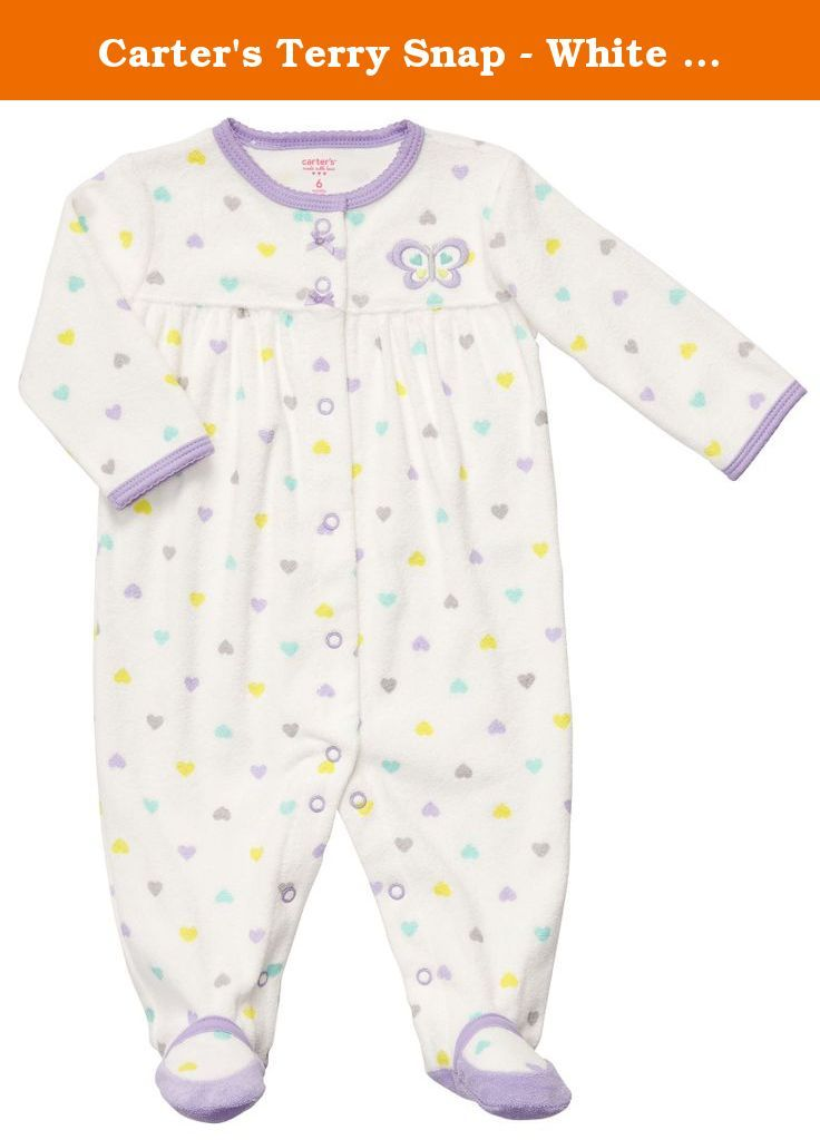 Carter s Terry Snap - White Multi Dot Butterfly-Nb. Carters Terry Snap -  White Multi Dot Butterfly Carter s is the leading brand of children s  clothing e3945cd32