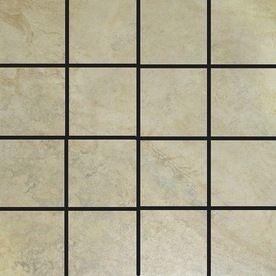 Style Selections 12 In X Mesa Almond Glazed Porcelain Mosaic Square Almondsporcelaintiletables