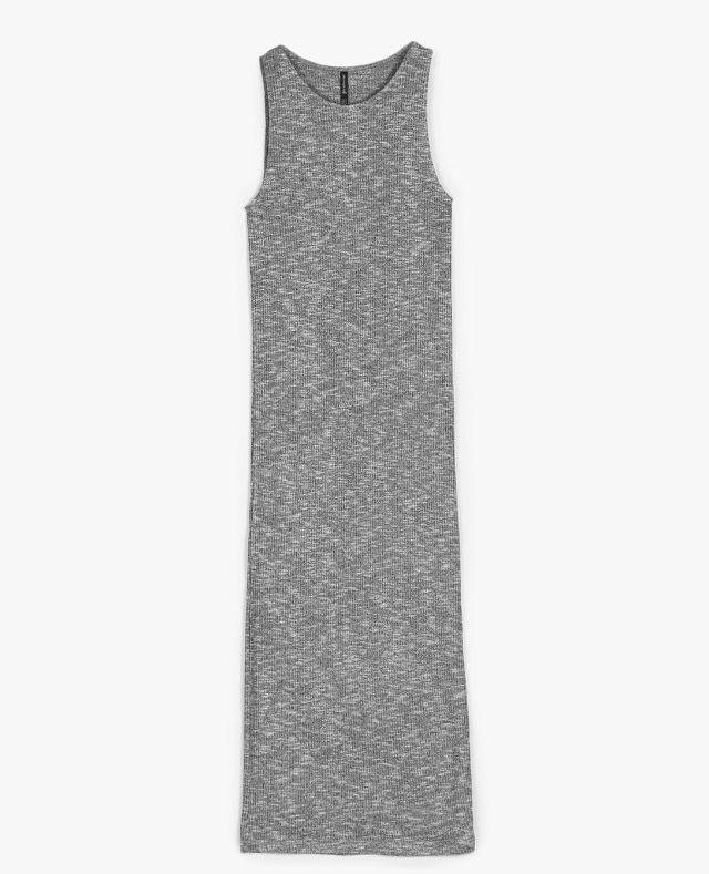 Vestido midi punto stradivarius