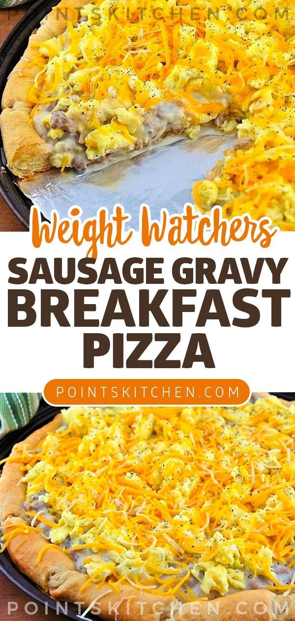 Sausage gravy breakfast pizza Sausage gravy breakfast pizza