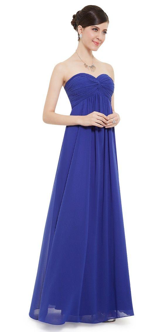 MEGAN Cobalt Blue Chiffon Prom Bridesmaid Occasion Maxi Dress - www ...