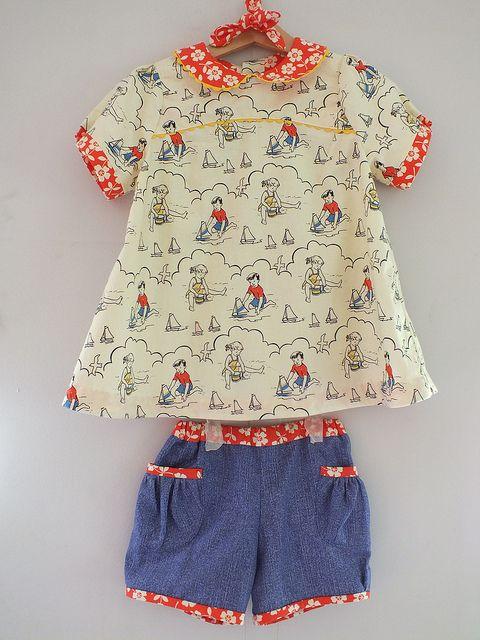 Puppet Show Shorts and Tunic Size 3   ropa de niña   Pinterest ...