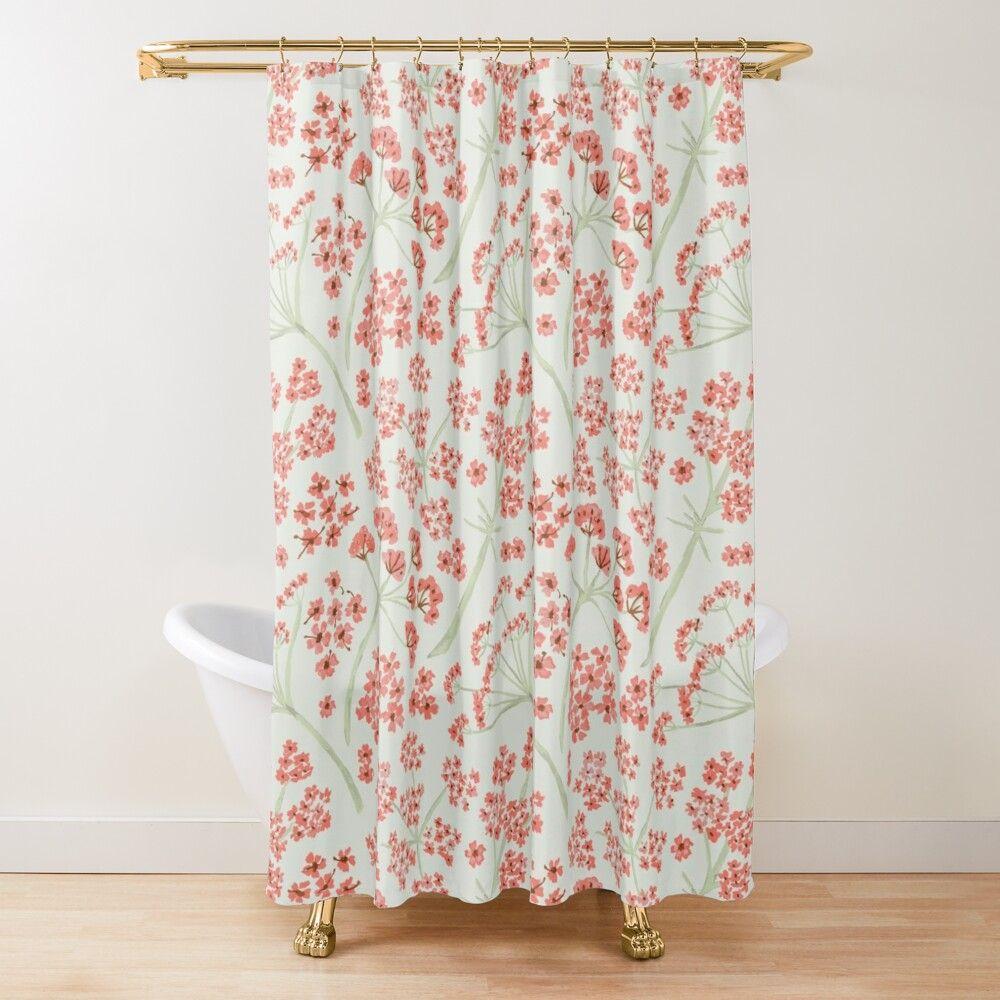 Pin On Floral Bathroom Decor Bathroom decor shower curtains