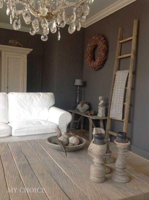 Rustic livingroom landelijk woonkamer interior ideas for Landelijk wonen ideeen
