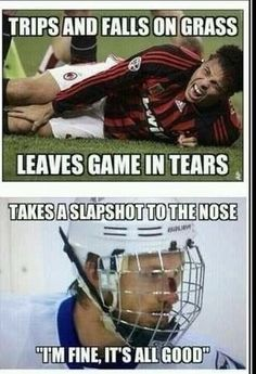 Hockey Players Are Tougher Hockey Humor Funny Hockey Memes