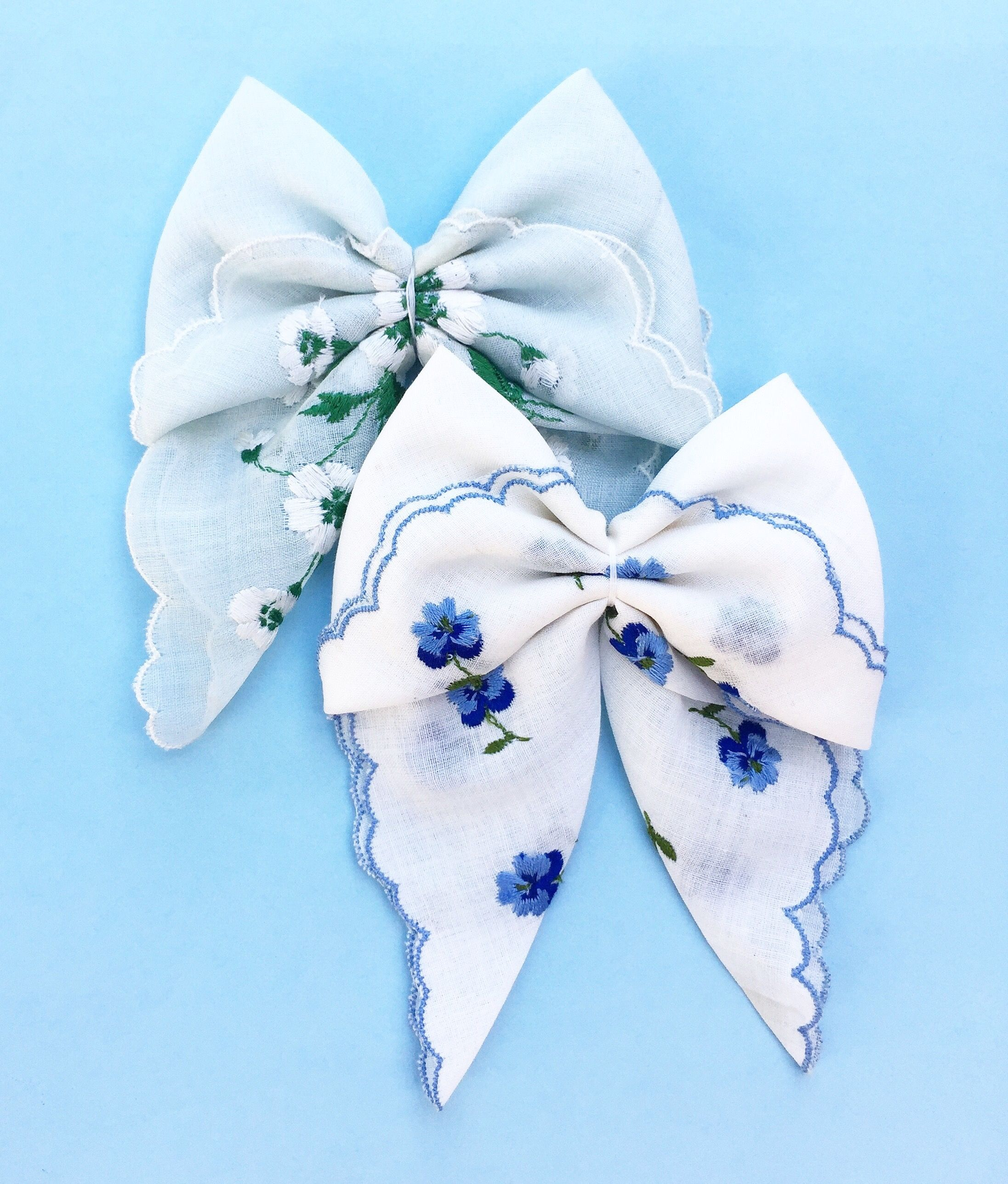 c9af13bb03a8 Dainty Lox handmade hair bows made from a vintage handkerchiefs. These bows  can be made into a nylon headband or hair clip and is the perfect accessory  for ...