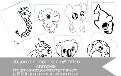 Dibujos Infantiles De Animales En Pdf Listos Para Imprimir 12