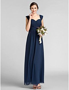 f11858204f Sheath/Column Sweetheart Floor-length Chiffon Bridesmaid Dress Save ...