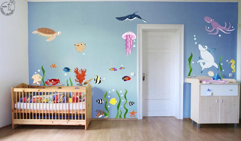 wandtattoo unterwasserwelt kinderzimmer galerie pic der fdaed